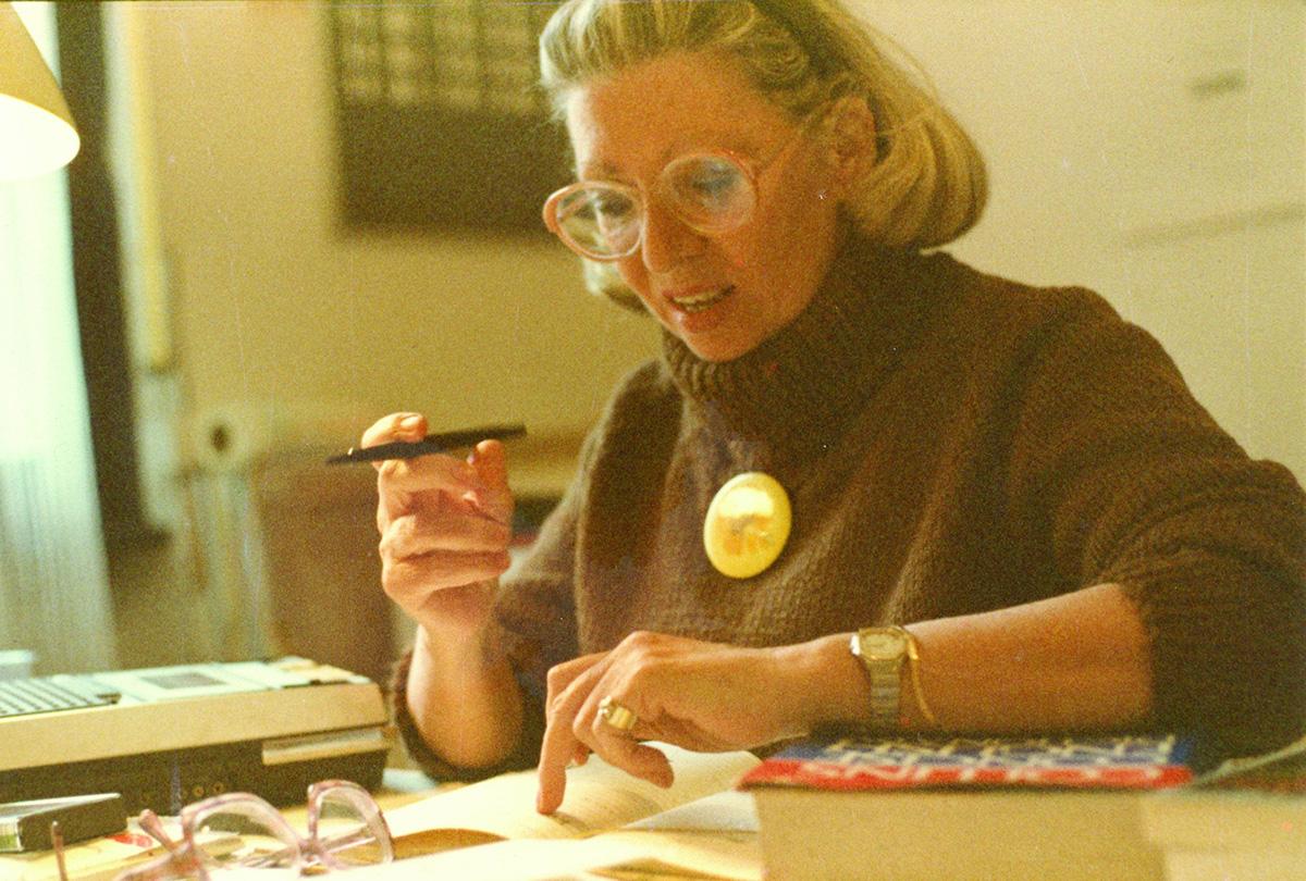 Betty Danon nel suo studio