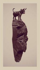 Standing Bull di Riccardo Arena per la mostra Hyphae alla Galleria Milano
