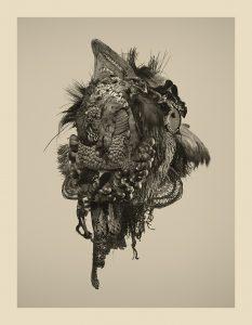 Mask of Knots di Riccardo Arena per la mostra Hyphae alla Galleria Milano